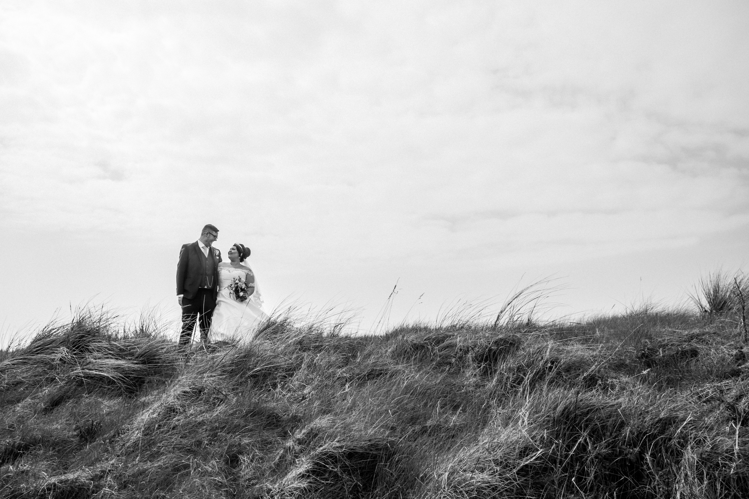 Wedding Photography of Bride and Groom at Burry Port, Llanelli, Carmarthenshire