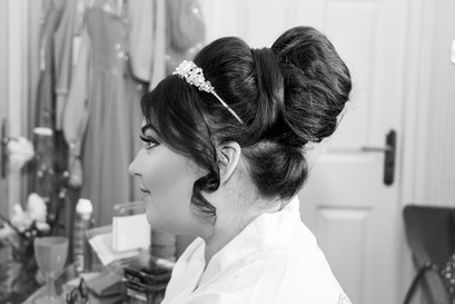 Natural Wedding Photography Photo of Bride Profile showing Hair