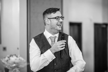 Groom giving Speech at Stradey Park Hotel Llanelli Wedding Photography