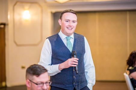 Best Man's Speech at Stradey Park Hotel Llanelli, Carmarthenshire Wedding Photography