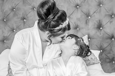 Natural Wedding Photography Photo of Bride and Daughter in Swansea, Carmarthen, Llanelli and The Gower