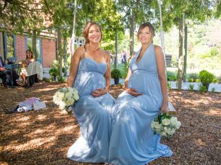 Glowing Pregnant Bridesmaids