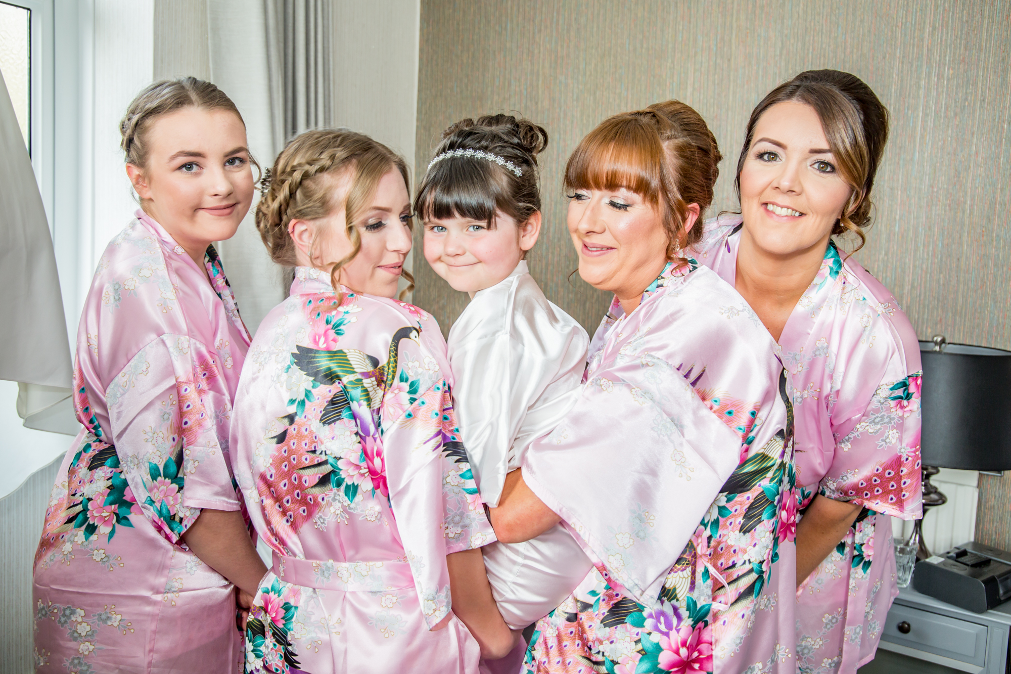 Swansea Wedding Photographer Bride Party Hair and Makeup. Bridal Prep Photography covering The Gower, Carmarthenshire, Llanelli and South Wales