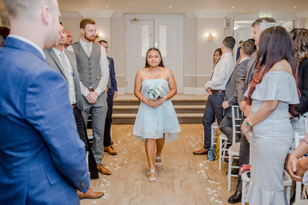 Blue Bridesmaid Wedding Photography New Forest and Southampton