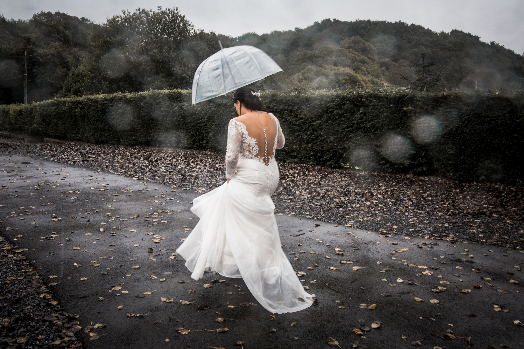Rain Wedding Photography in Swansea and the Gower