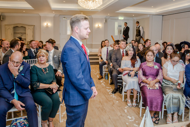Groom and Guests New Forest Wedding Photography
