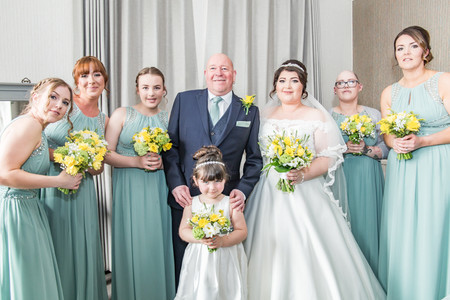 Natural Wedding Photography in Swansea, Carmarthen and The Gower of Bridal Party