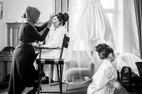 Wedding Photography Swansea, The Gower and Carmarthenshire of Bridal makeup