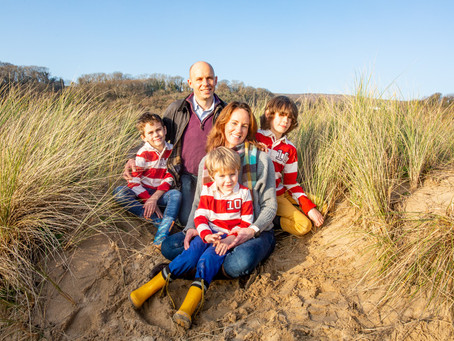 Tor Bay / Gower Beach Autumn Family Photography Session