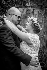 documentary wedding photography of newly weds in swansea