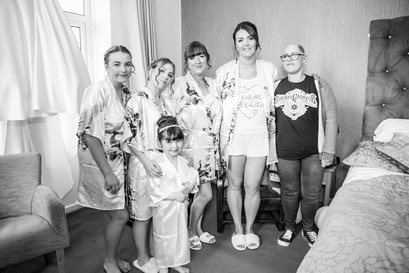 Wedding Photography Swansea, The Gower and Carmarthenshire of Bridal Group Shot