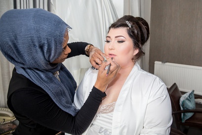 Wedding Photography Swansea, The Gower and Carmarthenshire of Bridal Preparations by Farhana Ali Makeup