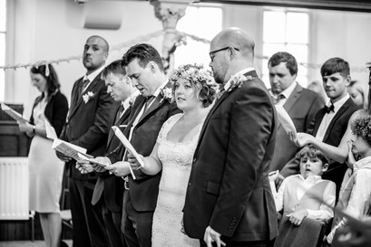 hymns being sung at church wedding in swansea