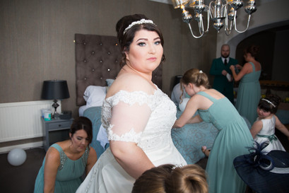 Natural Wedding Photography in Swansea, Carmarthen and The Gower of Bride's gaze
