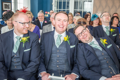 Groom Poses Before Wedding Ceremony Photography in Swansea, Carmarthenshire, The Gower and South Wales