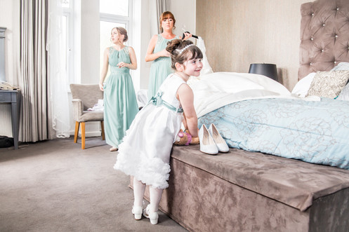 Wedding Photography Flower Girl in Swansea, Carmarthen and The Gower