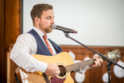 swansea and south wales wedding entertainment as guitarist plays music