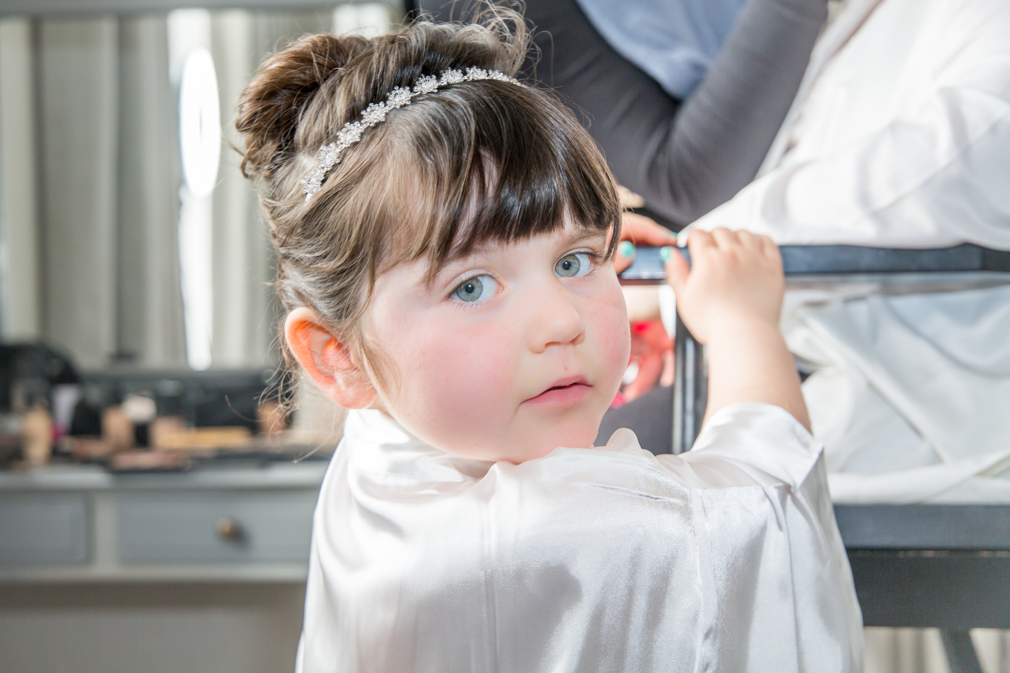 Swansea Wedding Photography Child Portrait and hair style covering The Gower, Carmarthenshire, Llanelli and Bridgend