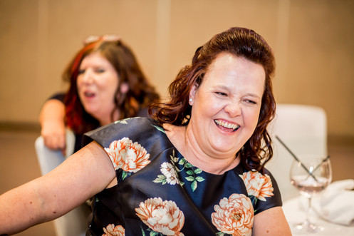 Guests Laughing at Speech at Stradey Park Hotel Llanelli, Carmarthenshire Wedding Photography