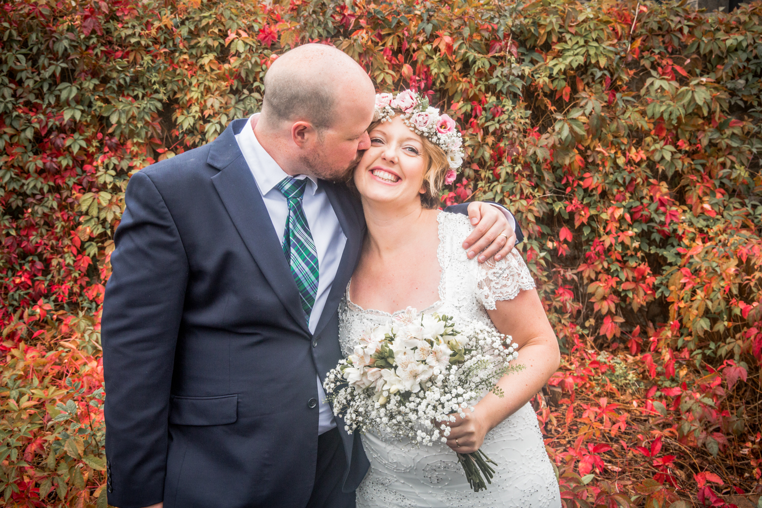 Autumn wedding photography in swansea and the gower