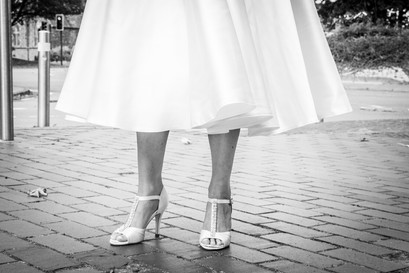 brides shoes from swansea bridal shop