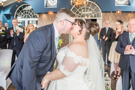 Wedding Photography Kiss in Swansea, Carmarthenshire, The Gower and South Wales