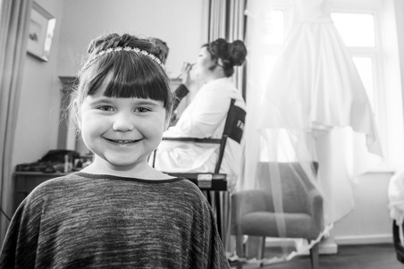 Wedding Photography Swansea, The Gower and Carmarthenshire of Bridal Preparations. Child portrait photography