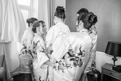 Bridal Group Shot Wedding Photography Swansea, The Gower and Carmarthenshire of Bridal Preparations.