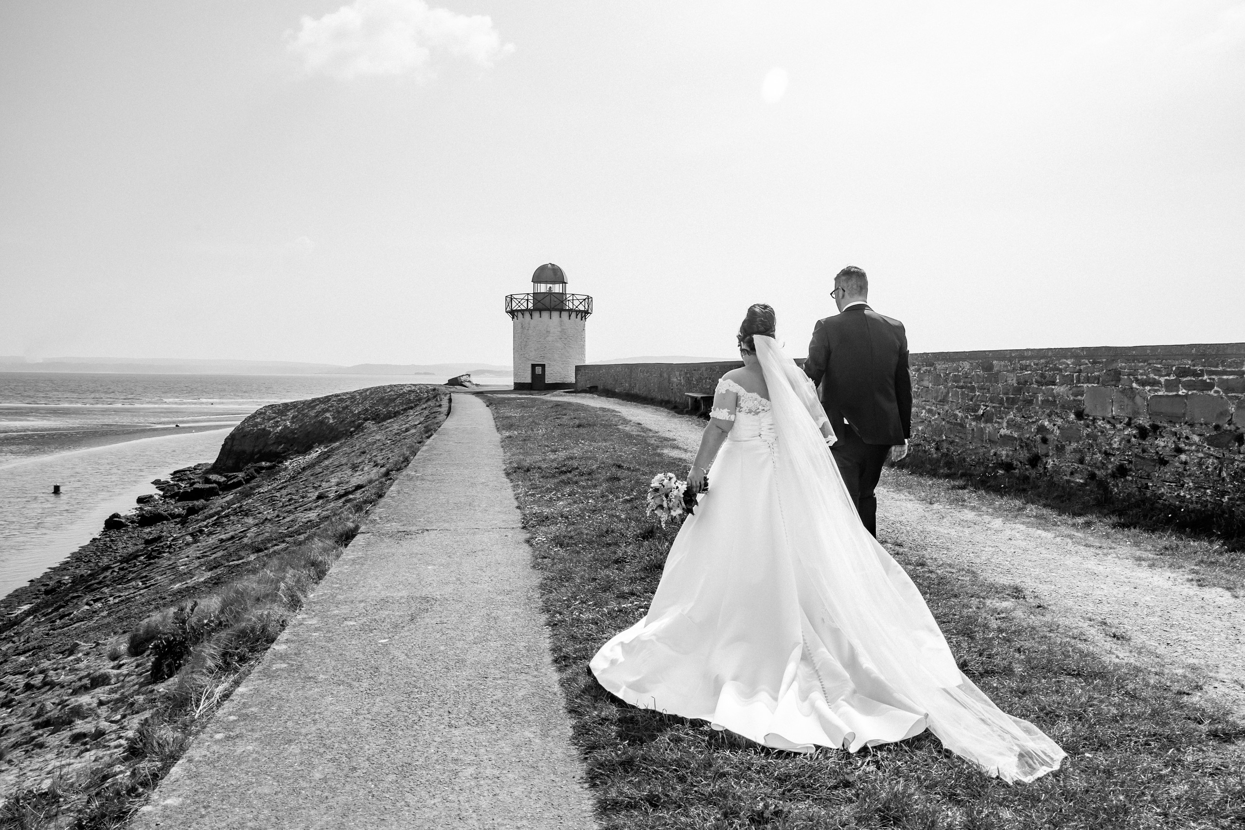 Burry Port Lighthouse Wedding Photography in the Harbour Llanelli, Carmarthenshire