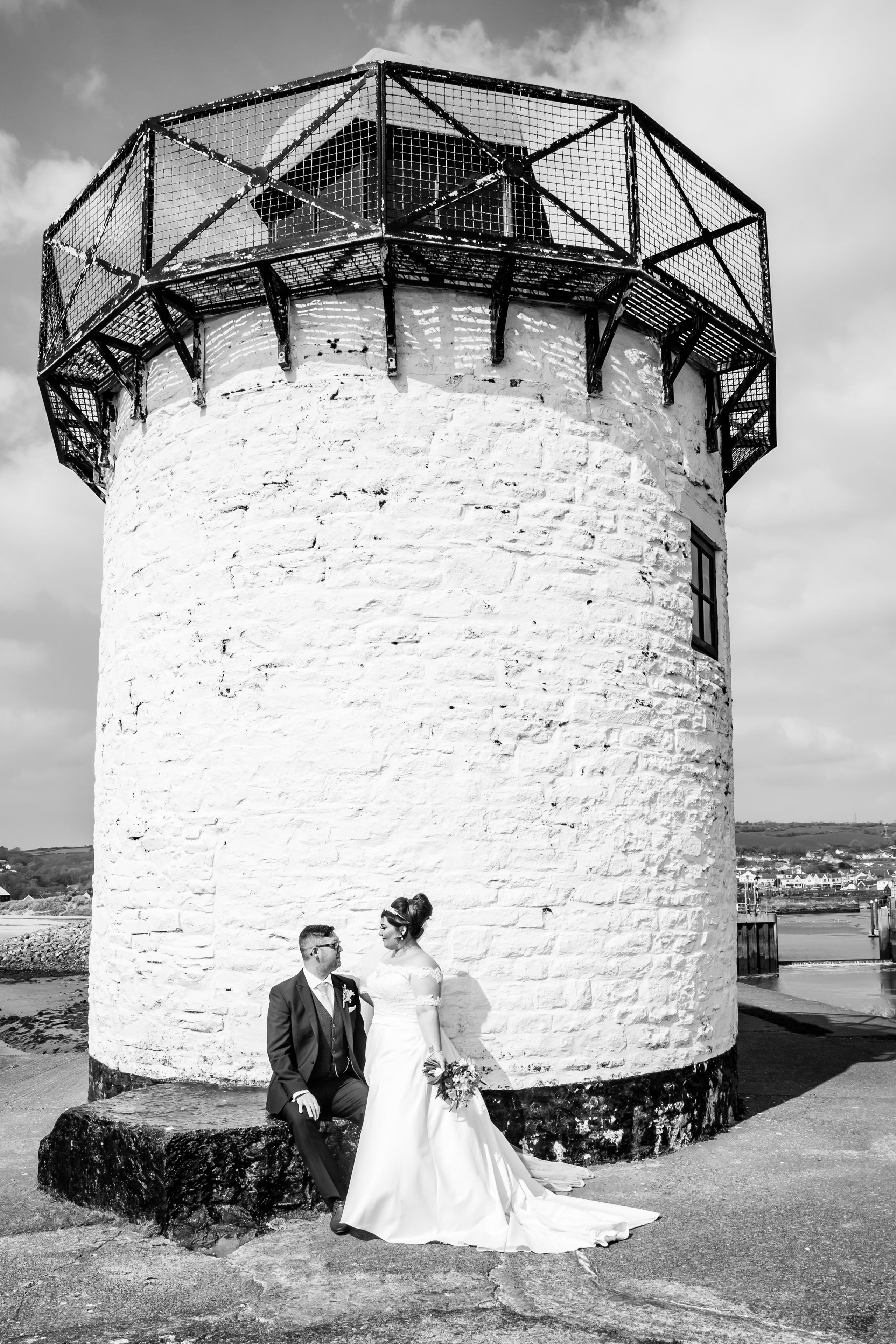 Burry Port Lighthouse Wedding Photography near the Gower and Swansea Beach