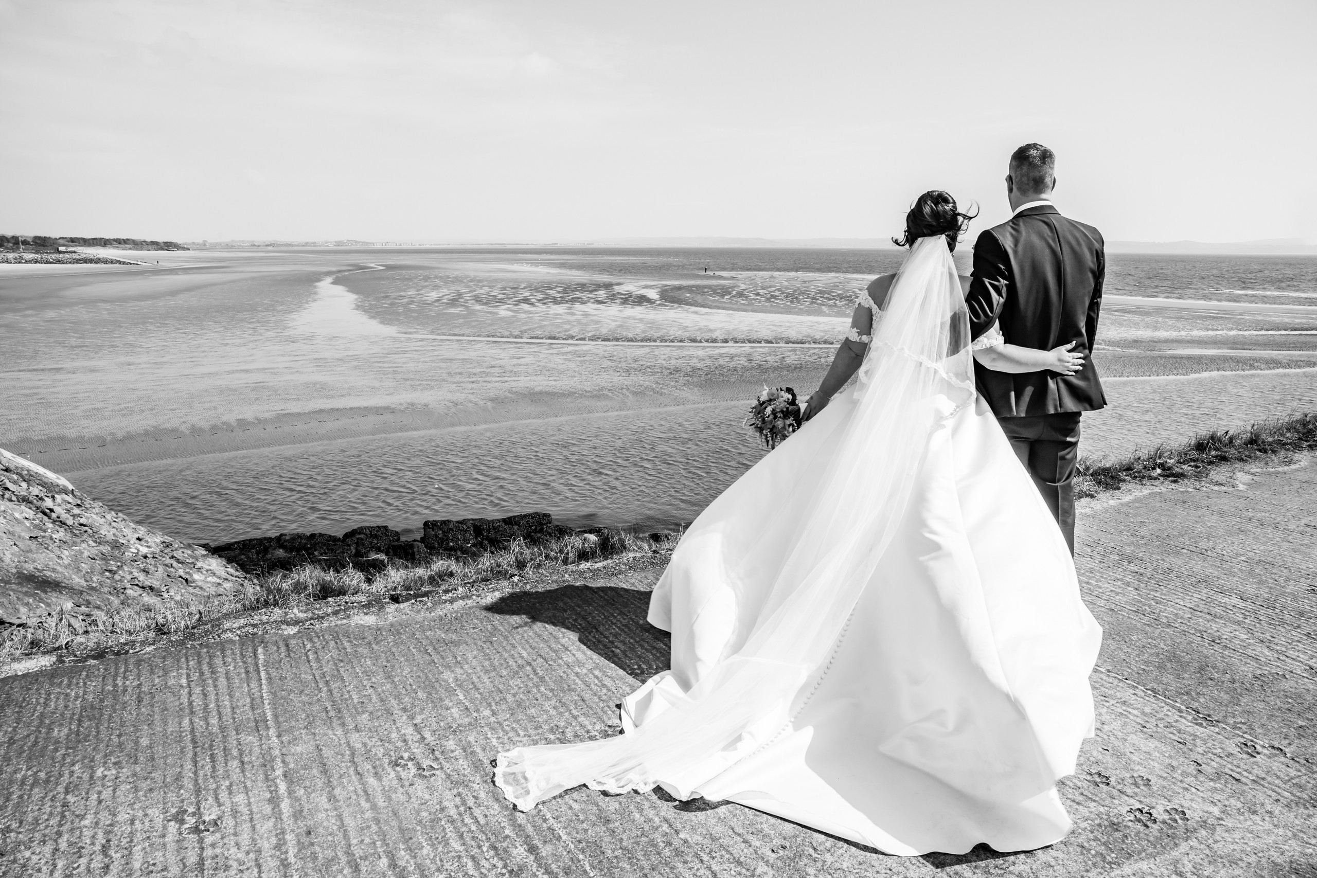 Burry Port Seaside Wedding Photography with the Gower and Swansea Beach