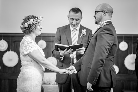 wedding vows in a church in swansea and the gower