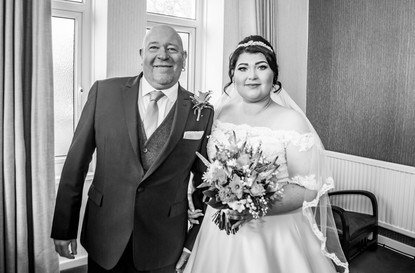 Natural Wedding Photography in Swansea, Carmarthen and The Gower of Bride's Father