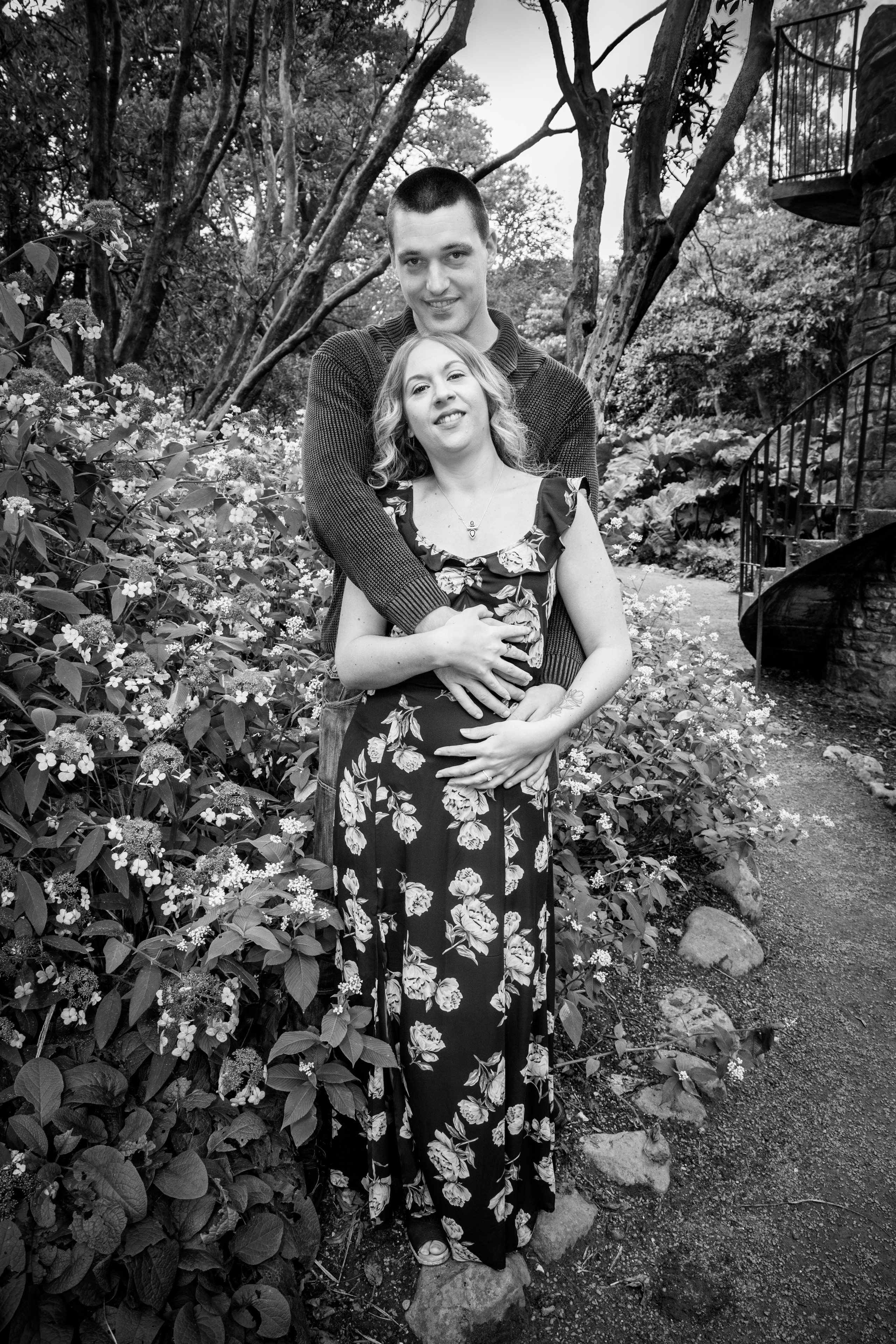 Engaged couple photography in Clyne Gardens Swansea
