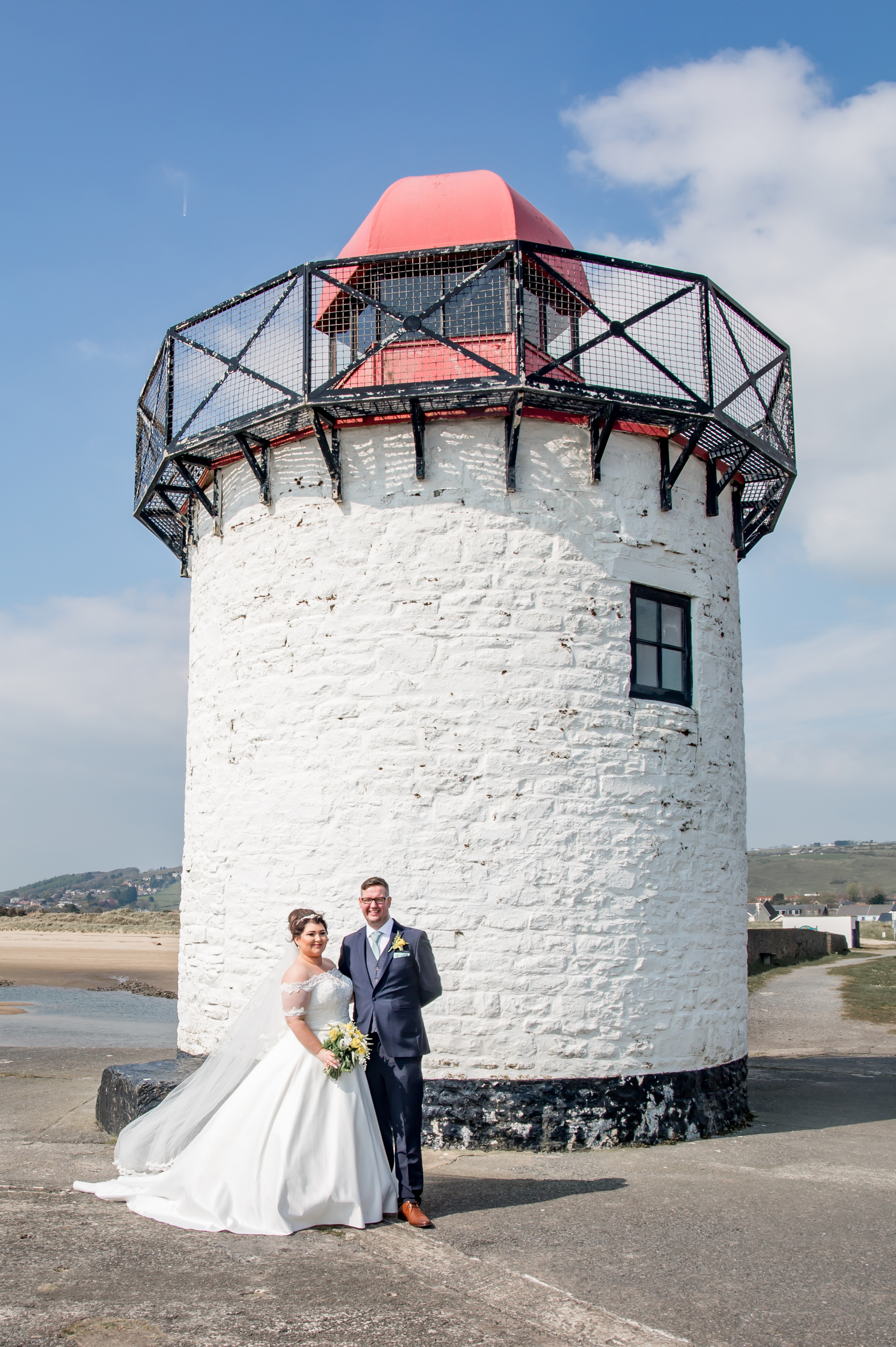 Burry Port Harbour Wedding Photography with the Gower and Swansea Beach