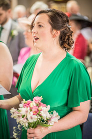 green bridesmaid dress from a south wales location