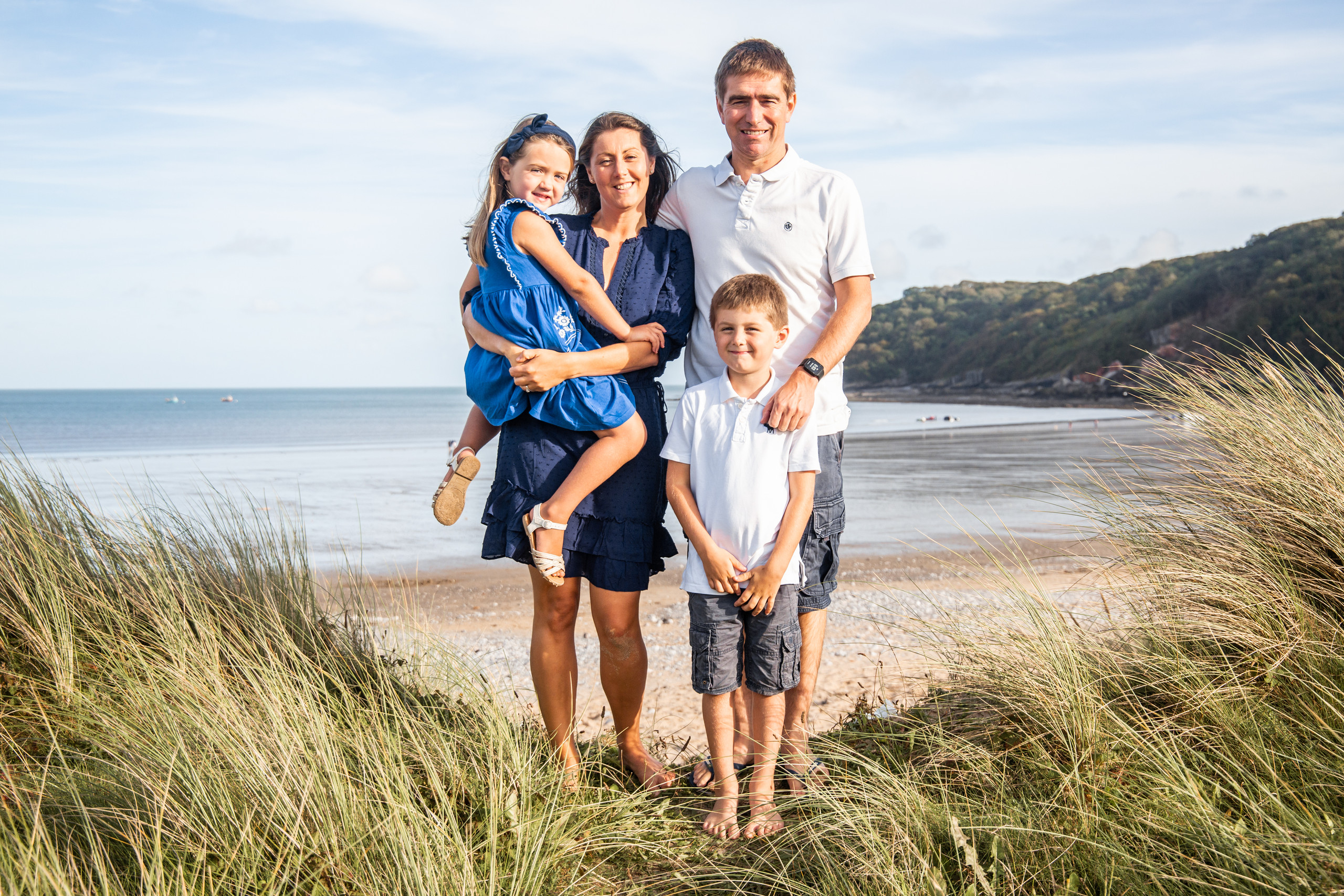 oxwich bay family photography session by the hotel