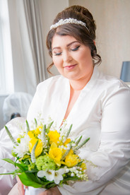 Natural Wedding Photography Photo of Bride's Flowers in Swansea, Carmarthen and The Gower