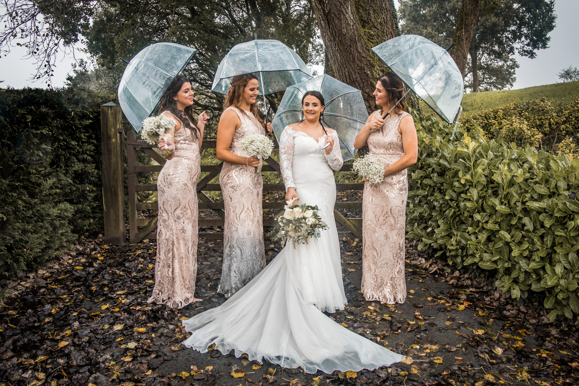 Group Wedding Photography in Swansea and the Gower