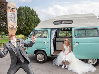Skater and Surfer Camper Wedding