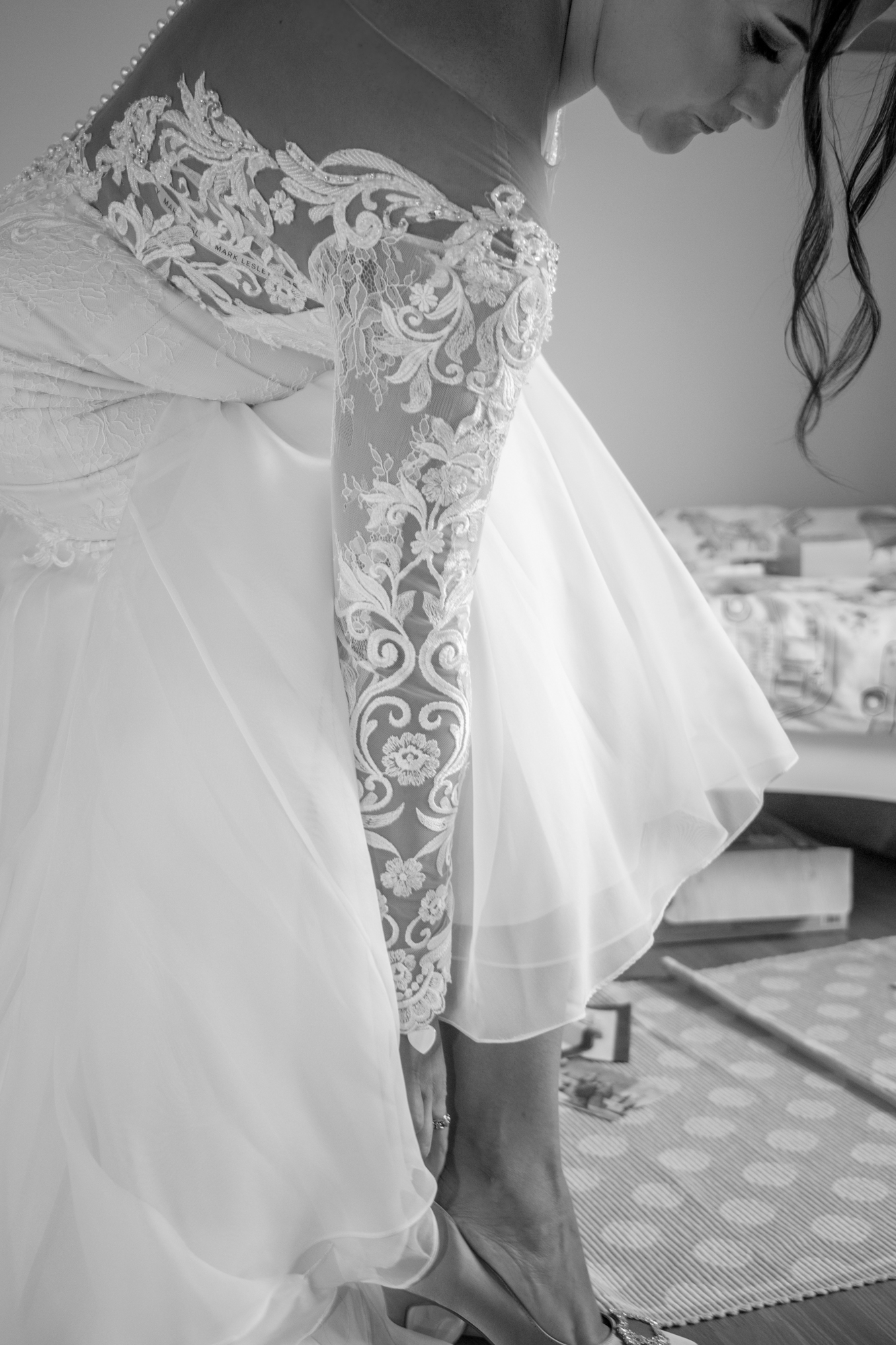 Black and White Wedding Photography Llanelli