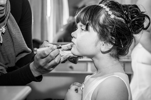 Natural Wedding Photography of a Flower Girl in Swansea, Carmarthen and The Gower