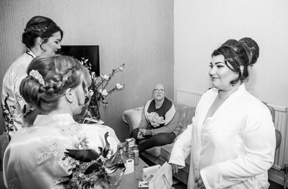 Wedding Photography Swansea, The Gower and Carmarthenshire of Bridal Preparations, excited bride