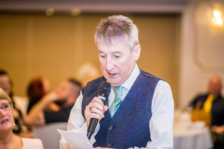 Father of Groom's Speech at Stradey Park Hotel Llanelli Wedding Photography