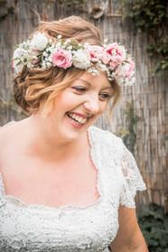 natural smiling bride