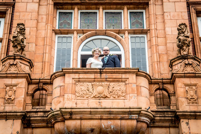 natural wedding photo of bride and groom in south wales