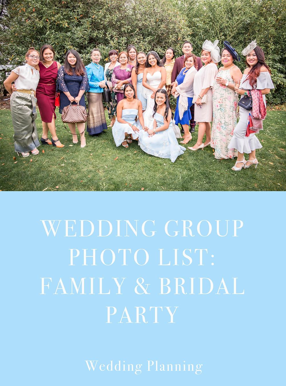 Wedding Group Photo List Swansea Photography