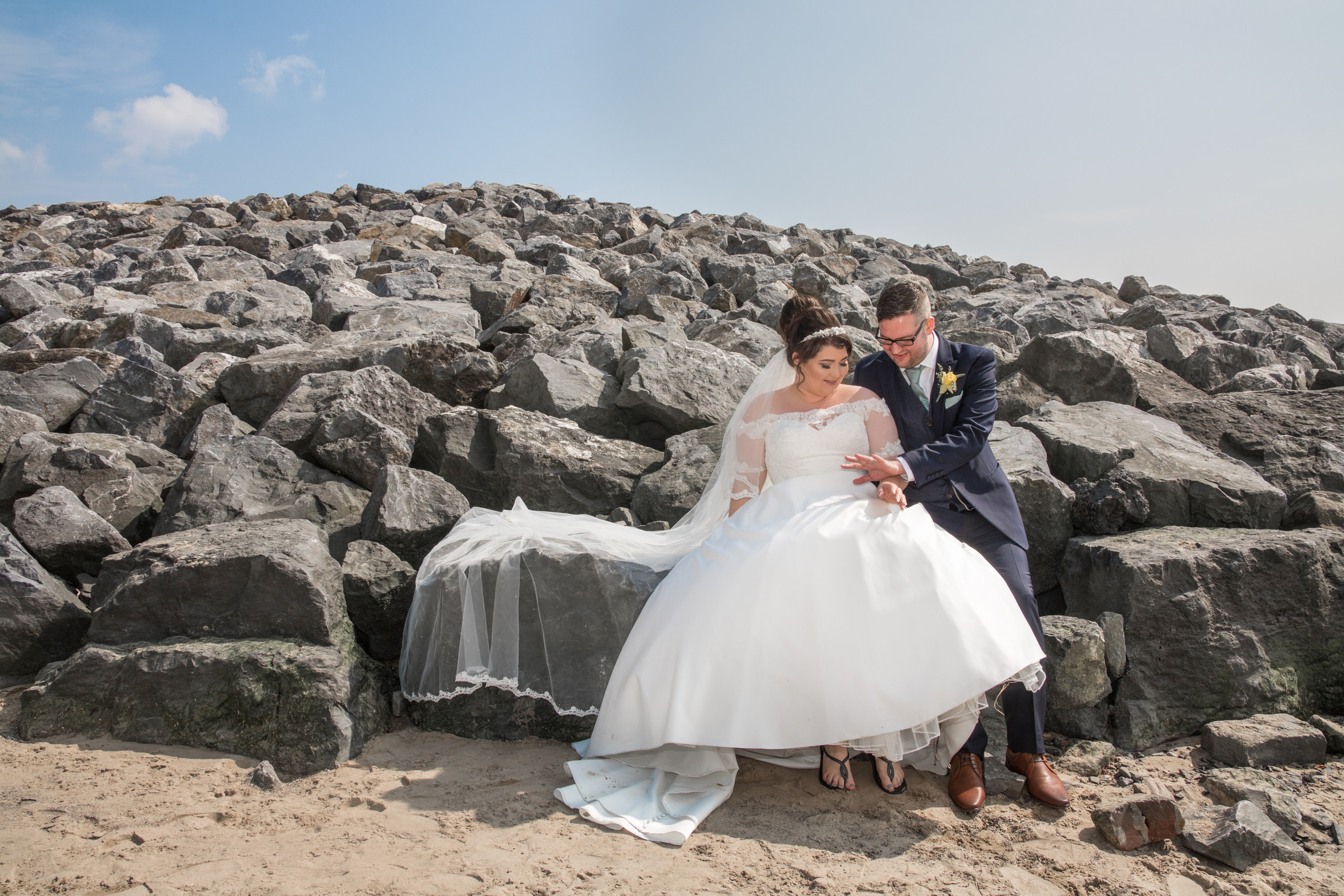 Wedding Photography on the Beach in The Gower, Swansea and Carmarthenshire