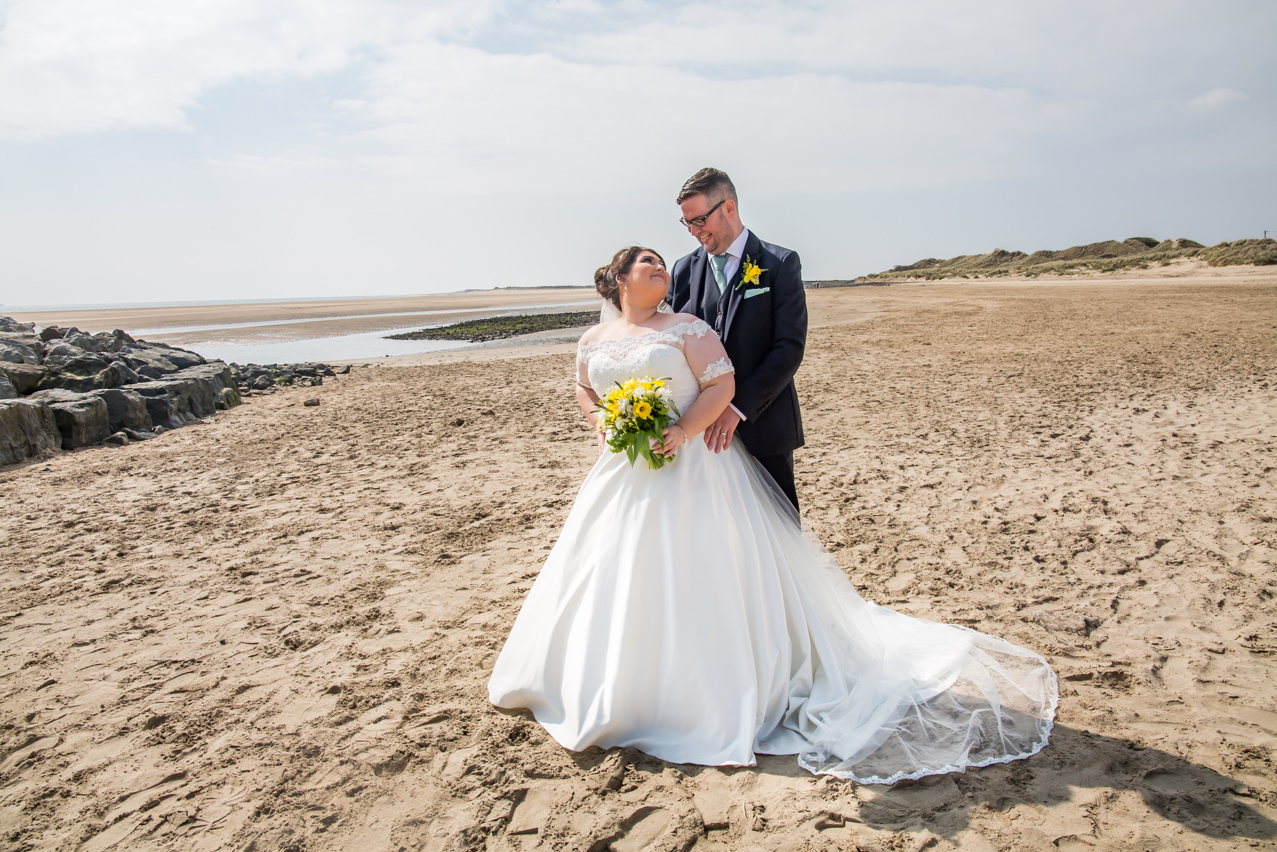 Burry Port BeachWedding Photography with the Gower and Swansea Beach