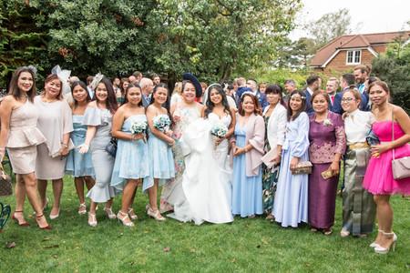 Thai Wedding Dresses Photography at Beaulieu Hotel